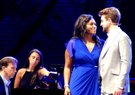 "Angel Blue and Ben Bliss sing the ""West Side Story"" duet: ""Tonight"" . . ."