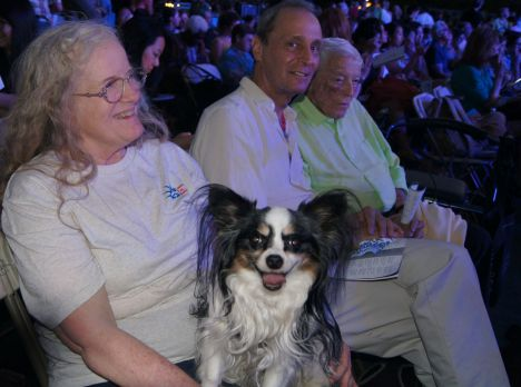 Ace and Loretta enjoying the concert . . . .